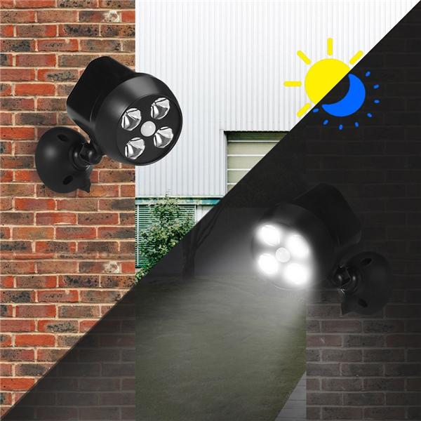 Водонепроницаемы Солнечная Powered PIR Motion Датчик Light На открытом воздухе Security Wall Лампа