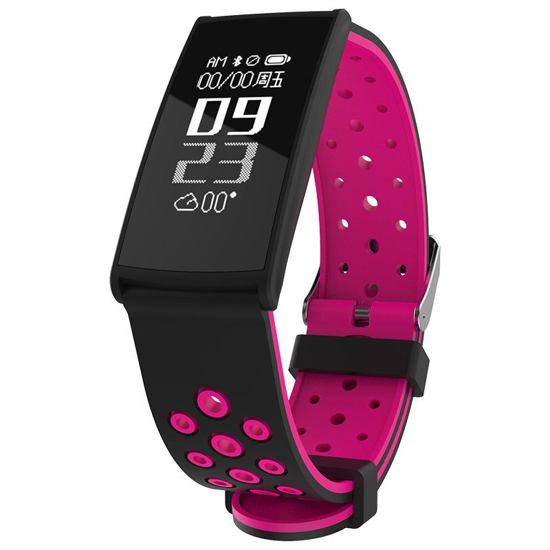 Спорт Smart Bracelet Сердце Оценить артериальное давление Монитор IP67 Водонепроницаемы Фитнес Tracker