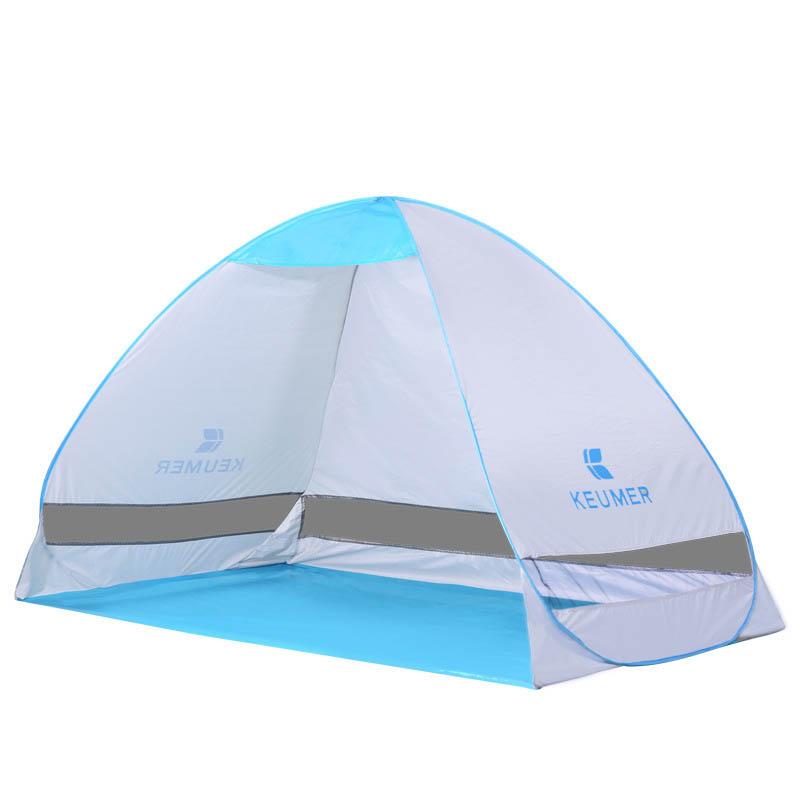 На открытом воздухе Двойной 2 чел. Кемпинг Тент автоматический Быстрый открытый однослойный Пляжный UV Sunshade