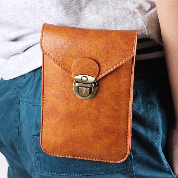 Мужская 5.5-дюймовый универсальный пу ремень зажим сумка поясная сумка телефон сумка для iPhone 7/7 плюс Samsung Xiaomi