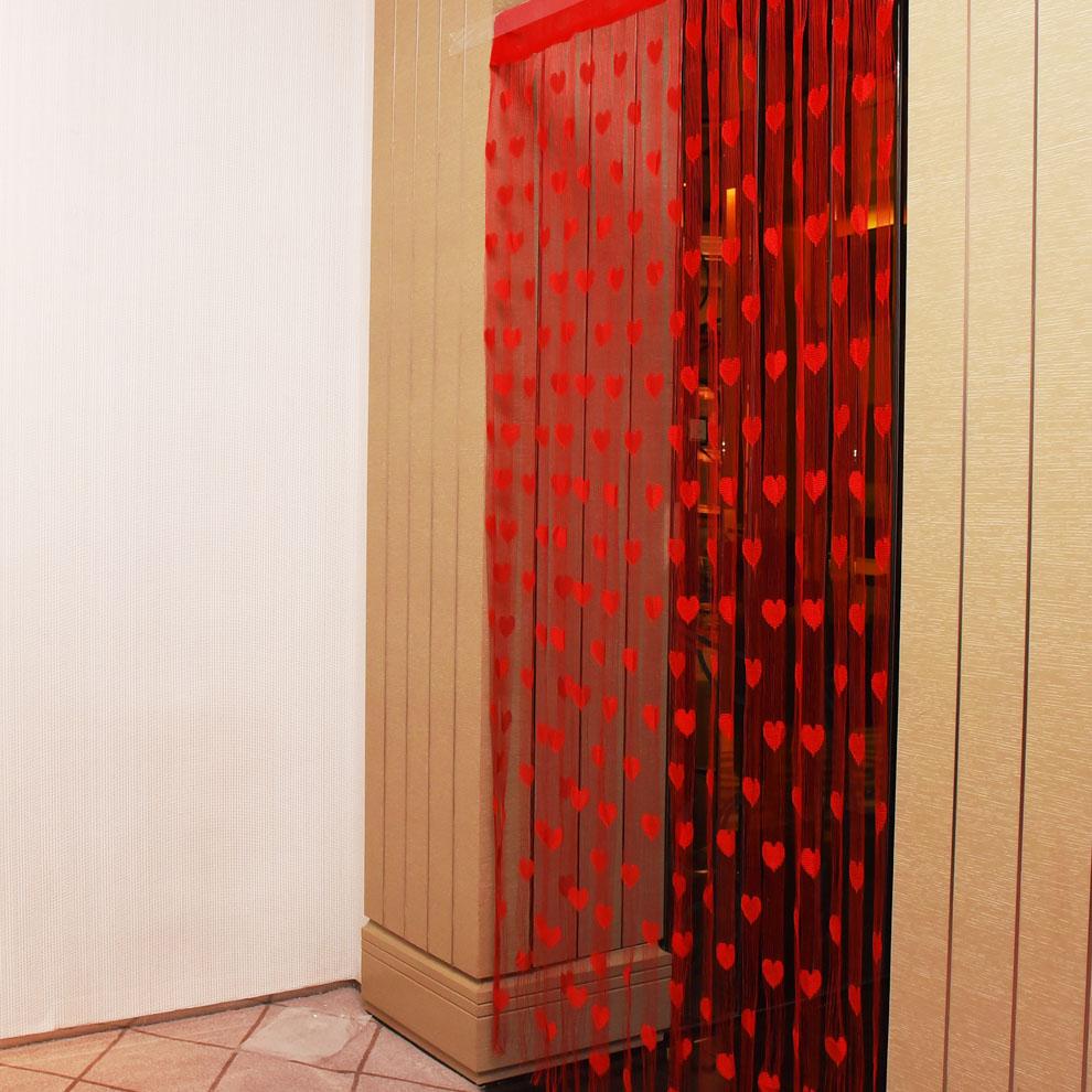 М х 2 м Любовь Сердце Строка Шторы Кисточкой Драпировка Для Прихожей Стены Двери Окна Home Decor