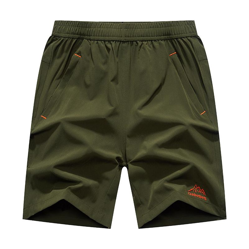 Летние мужские повседневные спортивные шорты Эластичная талия Большой размер Чистый цвет Пляжный Шорты