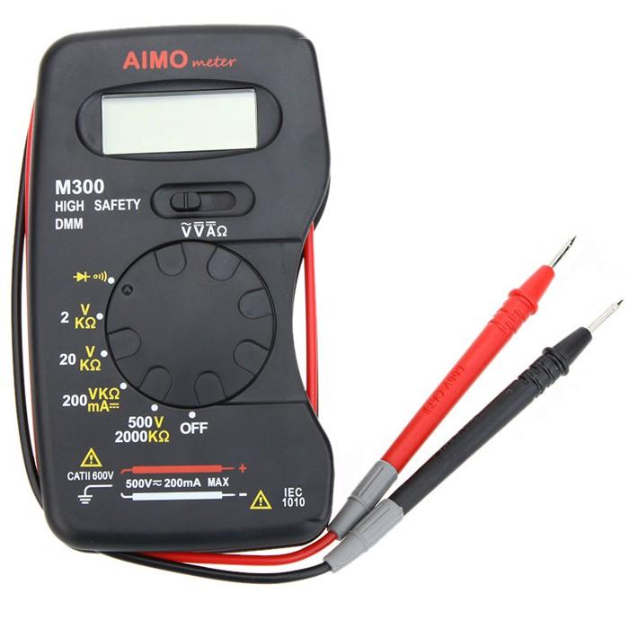 AIMO M300 Mini Digital LCD Multi Meters DMM Meter Ammeter Ohm Meter Volt Meterr Resistance Tester
