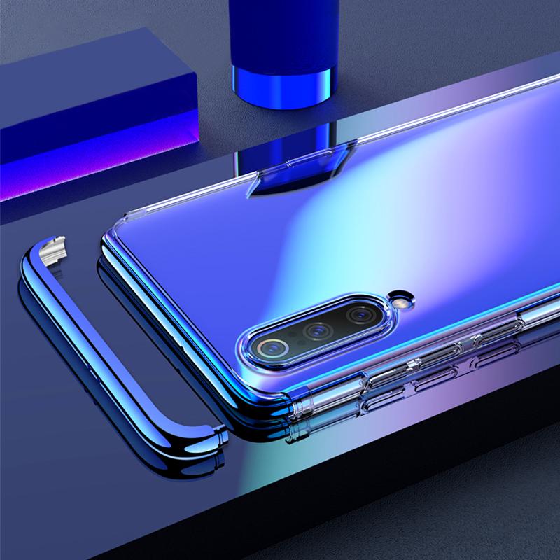 3в1Съемныйпрозрачный жесткий защитный жесткий диск для компьютера с защитой от глянец Чехол Для Xiaomi Mi9 / Xiaomi Mi 9 Transparent Edition