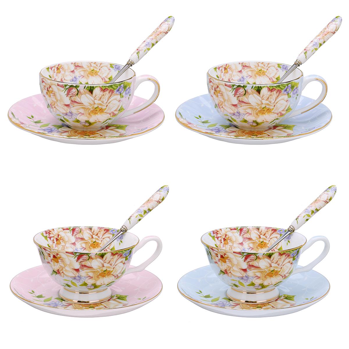 /SetМодаБританскаякость Китайская чашка для кофейных блюд Ложка для домашнего офиса