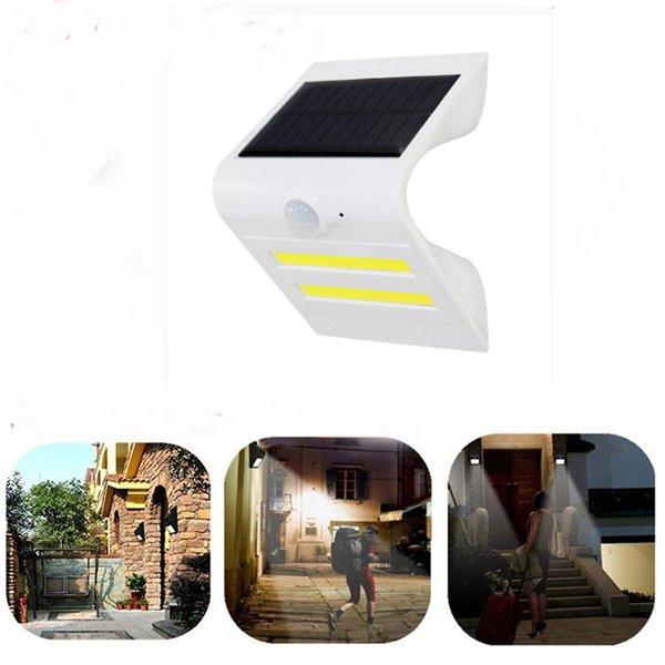 Солнечная Power PIR Motion Датчик COB LED Настенный светильник На открытом воздухе Водонепроницаемы Сад Лампа