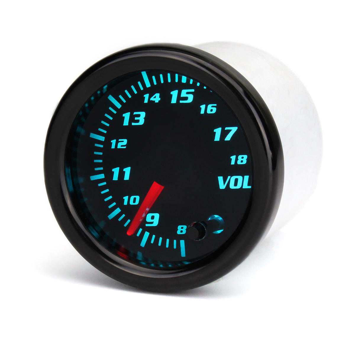 Дюймов 52 мм Автоматический вольтметр 7 Цвет LED Дисплей Тонированное лицо