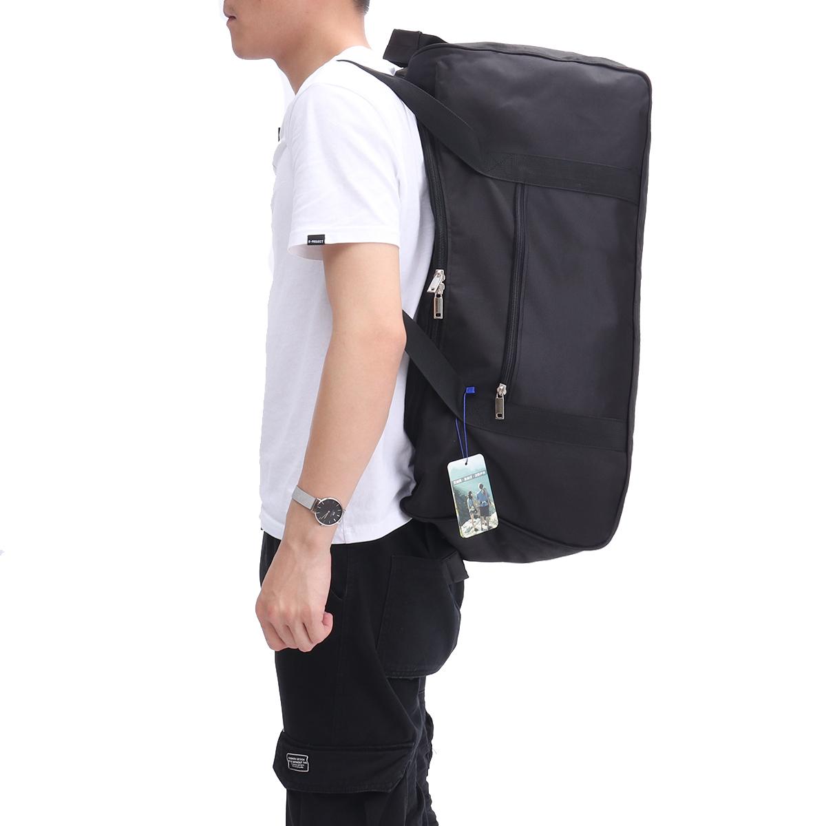Водонепроницаемая черная оксфордская ткань большой емкости Сумка складная рюкзак На открытом воздухе спортивная походная сумка Фитнес Yog