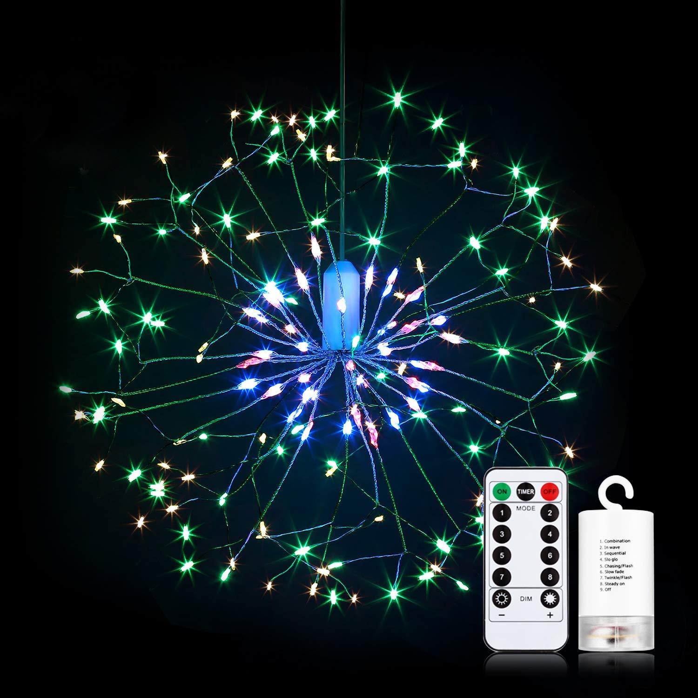 Батарея Поставка 150/180 LED 8 Режимов Colили жеful Фейерверк Звездный свет Фея Свет для домашнего декора