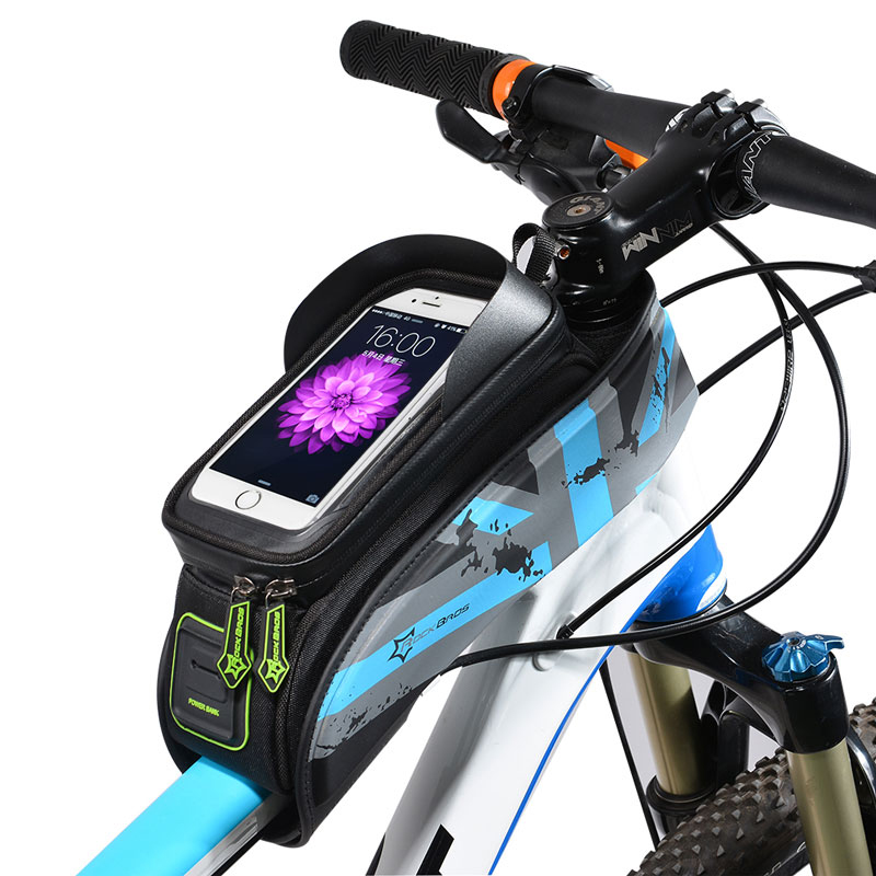 Сумка Тротуарный сенсорный экран для велосипеда Top Front Трубка Рамка Сумки 6.0 #and#quot;Телефон Чехол Аксессуары д