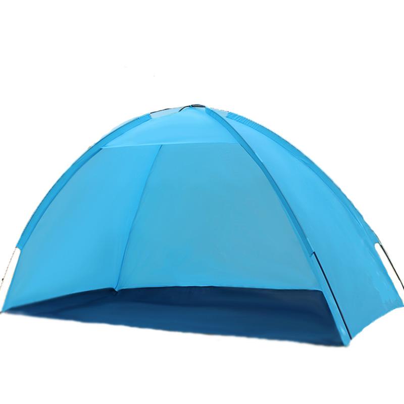 На открытом воздухе 1-2 чел. Кемпинг Палатка Одноместный слой Водонепроницаемы УФ Пляжный Зонтик навес