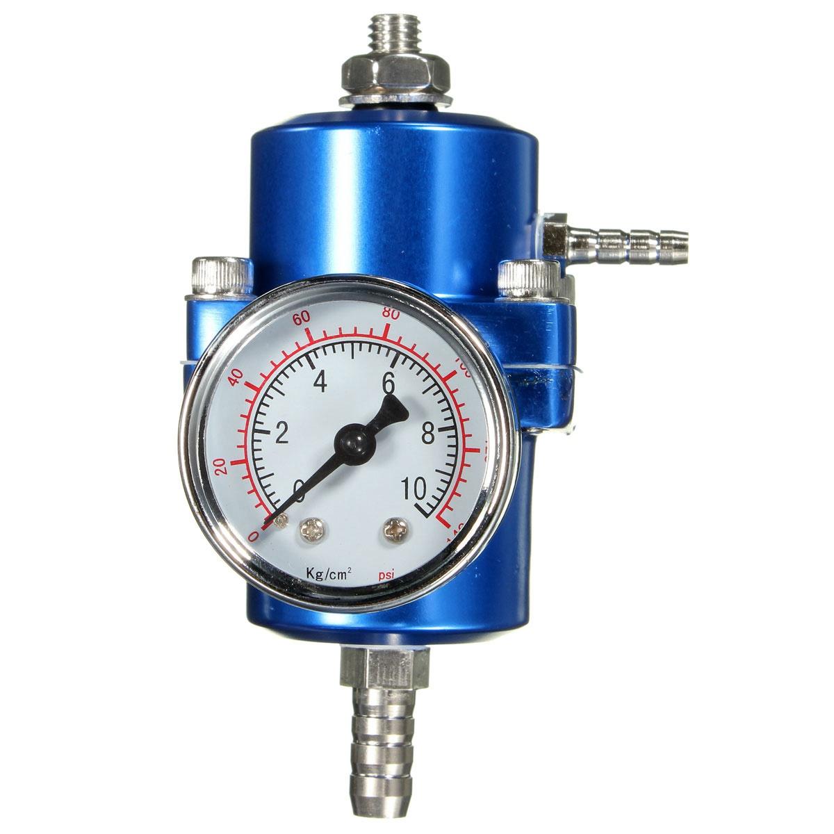 В синий регулятор давления топлива регулируемый манометр