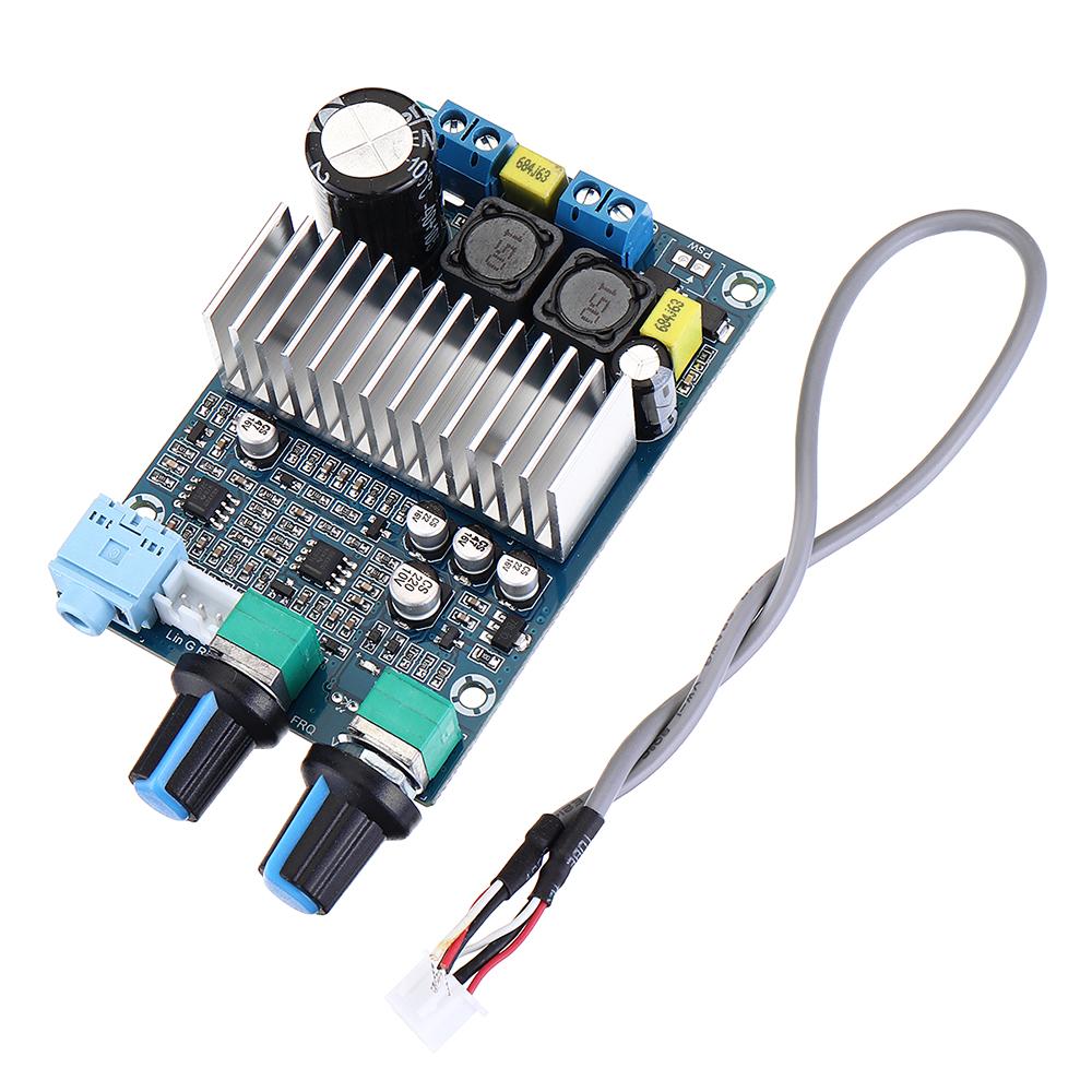СабвуферDigitalPowerУсилительПлата DC12-24V Поддержка 100 Вт Басовый выход