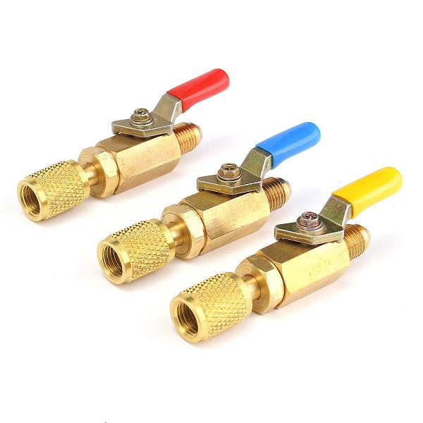 Латунь прямые шаровые краны 1 / 4inch САЕ 800psi фитинги для шлангов переменного тока R410A