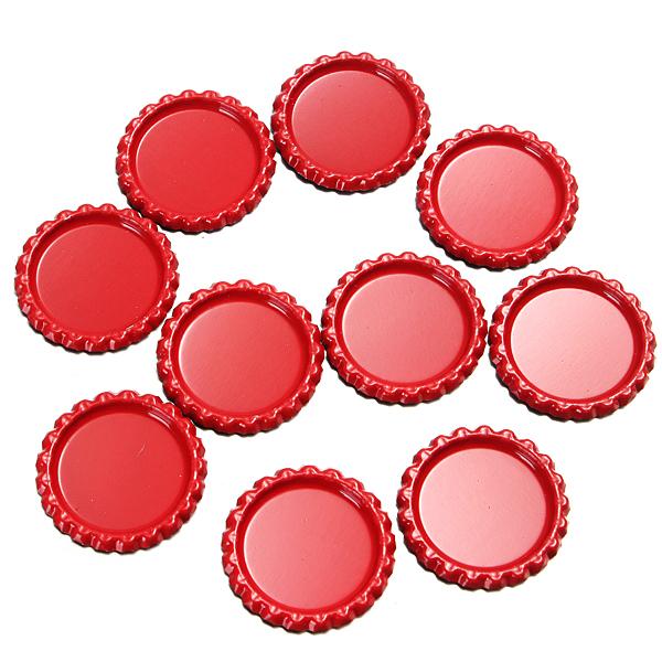 Шт красочные поделки плоская крышка от бутылки время жемчужиной кап ремесло ювелирных изделий DIY