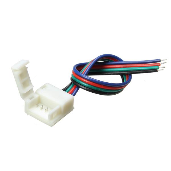 Мм ширина печатной платы разъем провода 4-контактный разъем для водонепроницаемый RGB LED полосы
