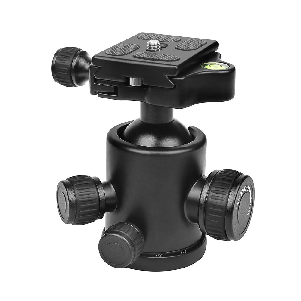 Профессиональная мини-360 градусов вращения жидкости Штатив Головной шар для DSLR камера с быстрым выпуском Пластина 1 / 4inch Болт Макс.