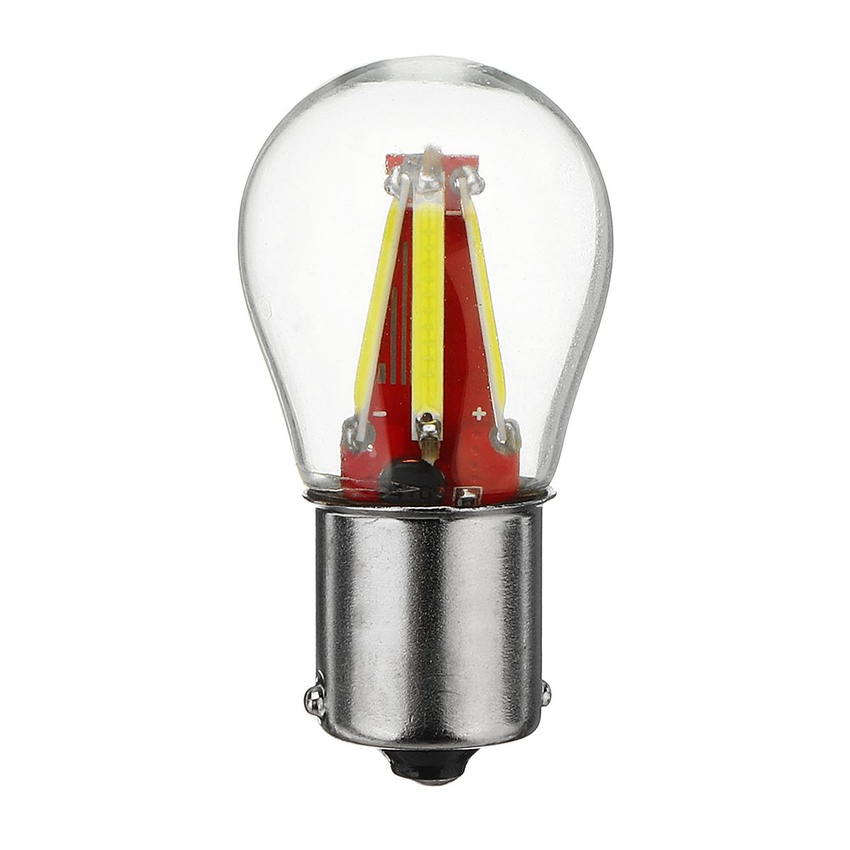 BAU15S150°4COB Авто LED Поворот сигнальных ламп Реверсивное копирование Лампа Белый