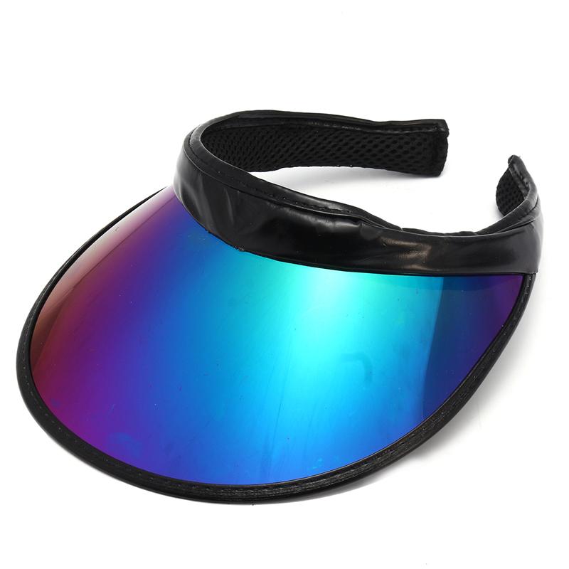 НаоткрытомвоздухеКемпингШапкаЛето UV Пластиковые Visor ВС Шапка Открытый теннис Пляжный Шапка Защита Snapback Cap