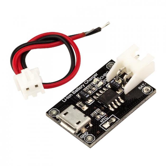 ® TP4056 MicroUSB 18650 Li-Ion Батарея Зарядное устройство 1A с питанием Коннектор и кабель