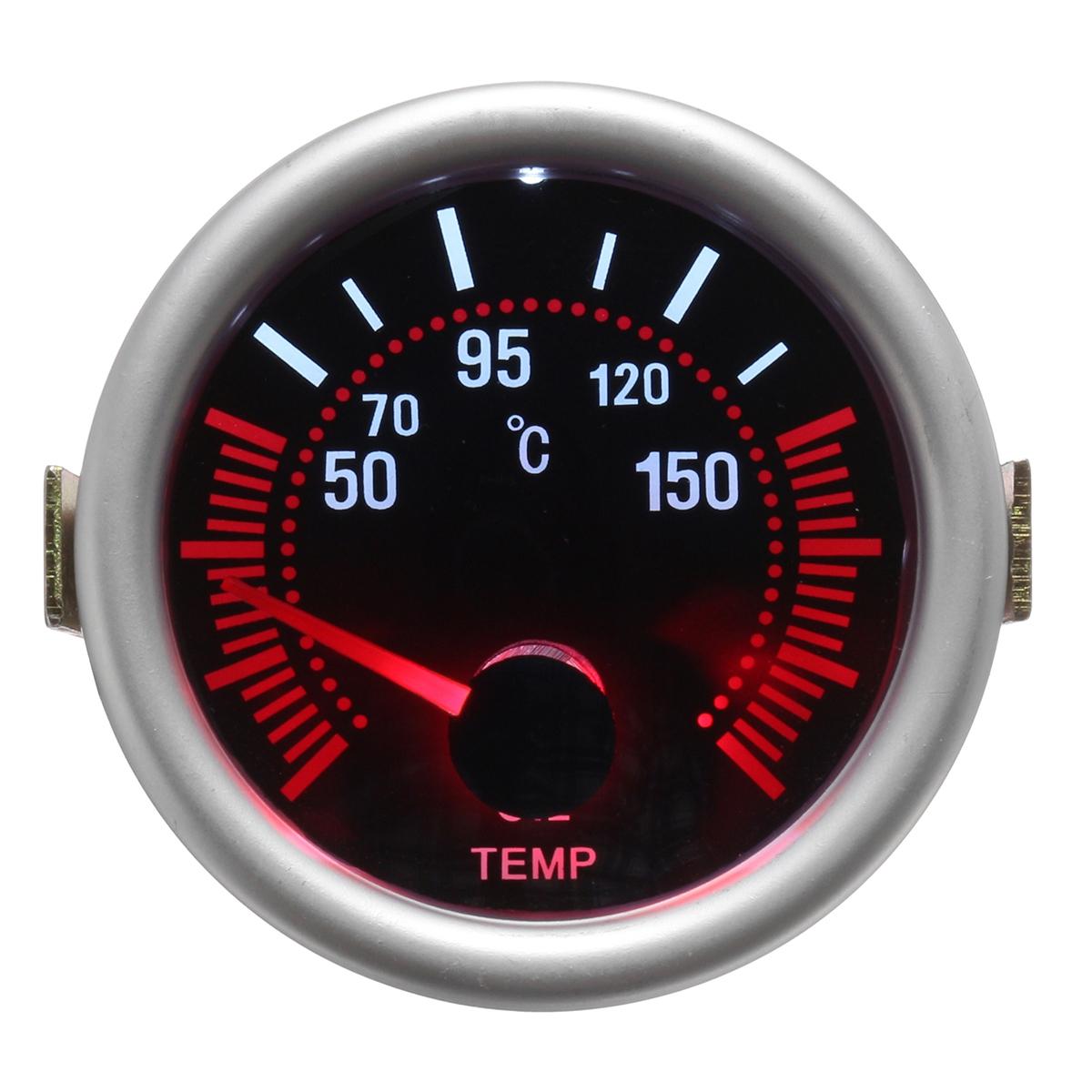 Дюймов 52 мм Цифровой синий LED Boost Вакуумная вода Масло Датчик давления вольтметра Tachol Gauge 12V