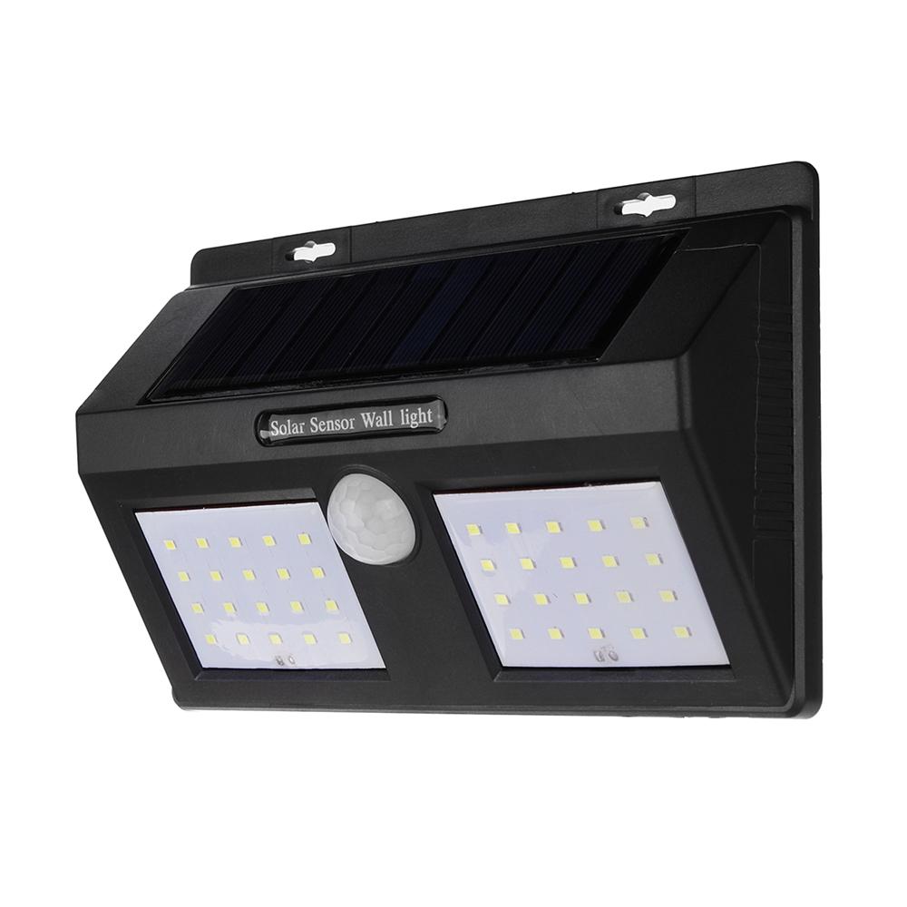 Солнечная Powered PIR Motion Датчик Стена Лампа Водонепроницаемы Безопасность Белый свет Сад На открытом воздухе