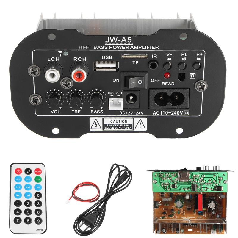 Универсальный сабвуфер Авто 30W Hi-Fi Мощность бас-антенны Усилитель с функцией TF USB Bluetooth