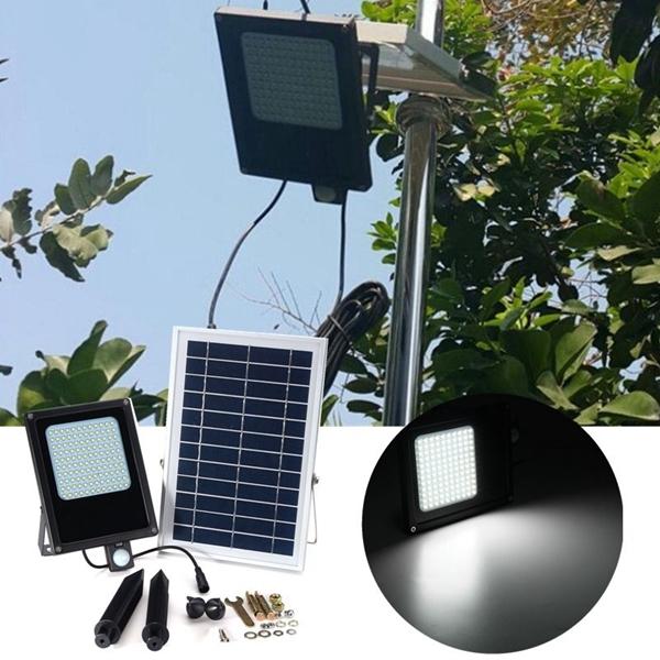 Солнечная Powered 120 LED PIR Motion #and# Light Датчик Flood Light Водонепроницаемы На открытом воздухе Сад Безопасность Лампа
