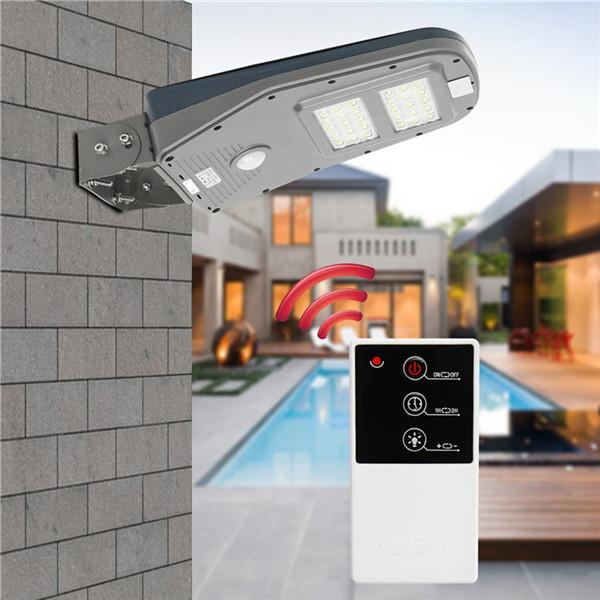 Солнечная Powered PIR Motion Датчик 30LED Street Light Водонепроницаемы На открытом воздухе Стена Лампа с Дистанционный