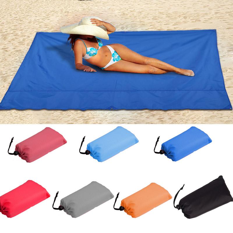 ВодонепроницаемыПляжныйКоврикНаоткрытом воздухе Портативный коврик для пикника Кемпинг Солнцезащитный козырек с тентом