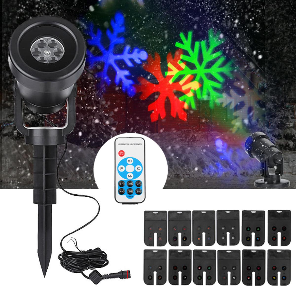 Шаблоны LED Водонепроницаемы Пейзаж Перемещение Лазер Сценический свет Проектор для Chrismas Halloween