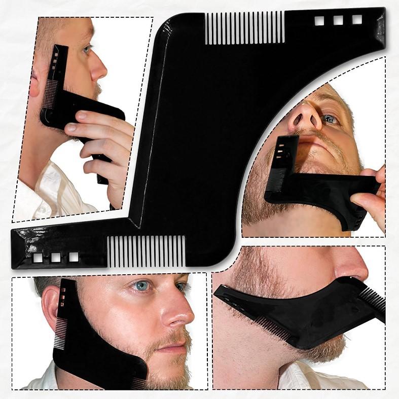 Расческа для стрижки бороды для бритья Симметричный шаблон для укладки бороды Набор Guide