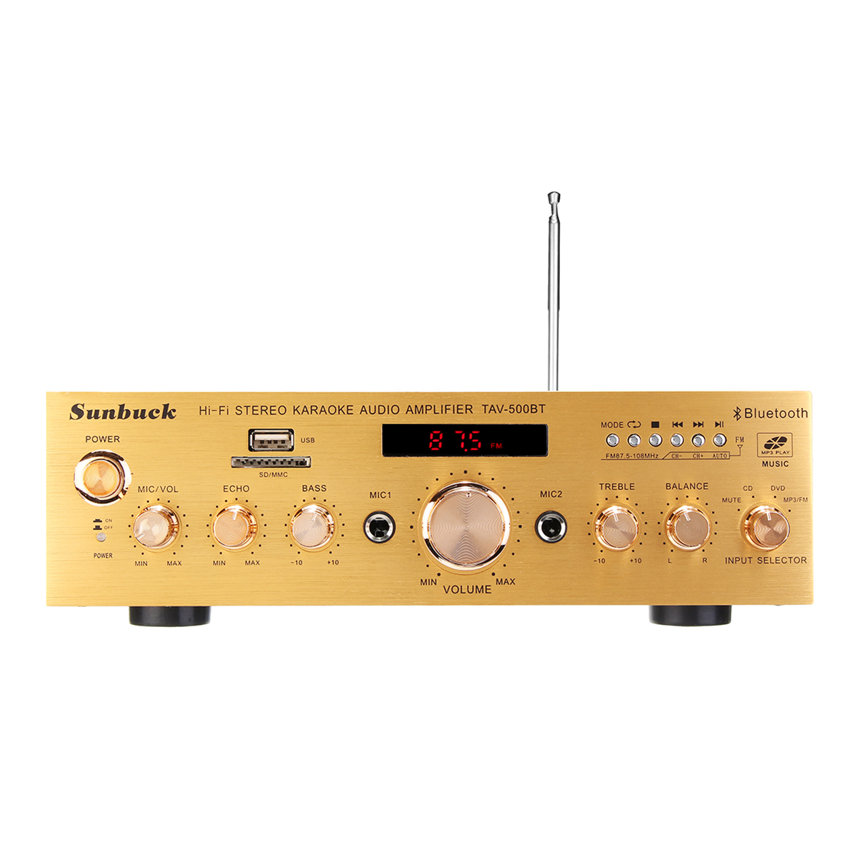 Мощность Усилитель Главная KTV FM Аудио Стерео USB Bluetooth Hi-Fi Дистанционное Управление