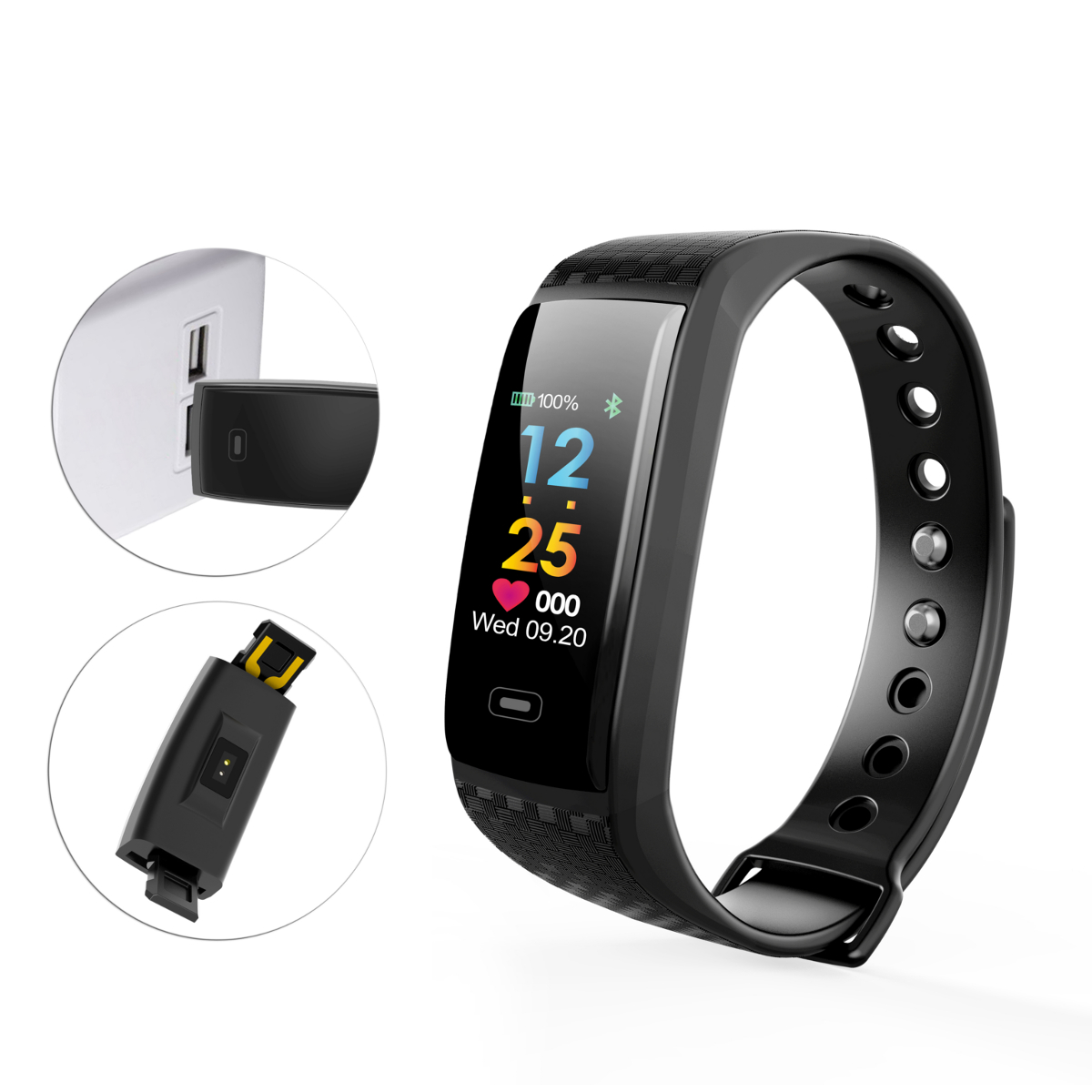 Сердце Оценить кислородное давление Монитор IP67 Водонепроницаемы Smart Sports Bracelet