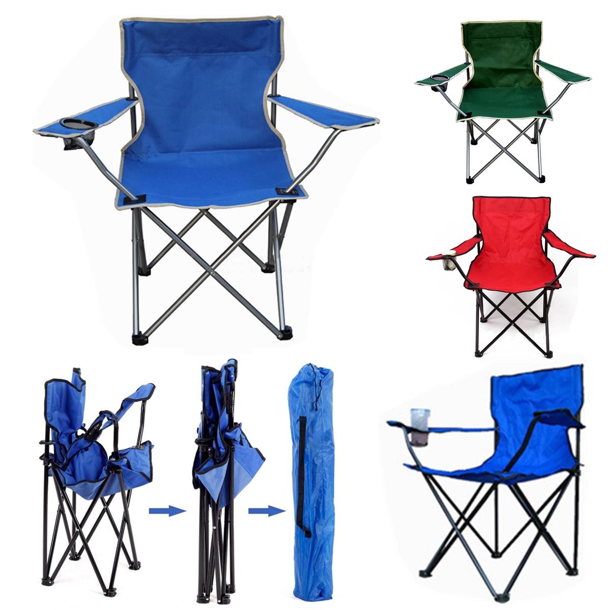 НаоткрытомвоздухеПортативныйскладнойстул Рыбалка Кемпинг Пляжный Стул для пикника с держателем для чашек