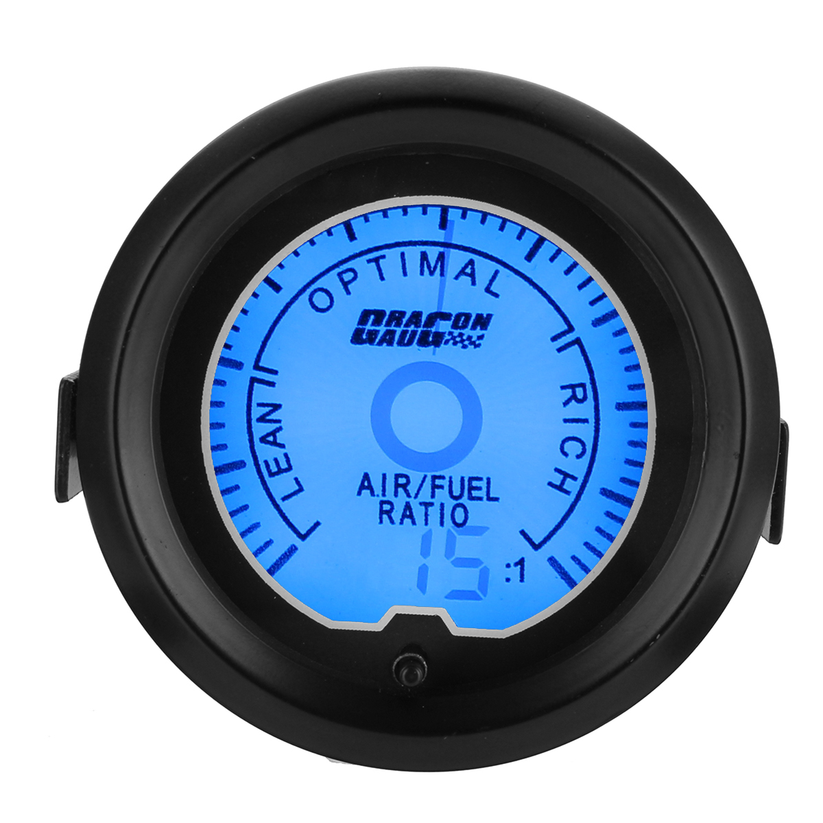 Универсальный 2 дюймов 52 мм 12V Расходомер воздуха для автомобилей Digital 7color LED Дисплей Авто Meter