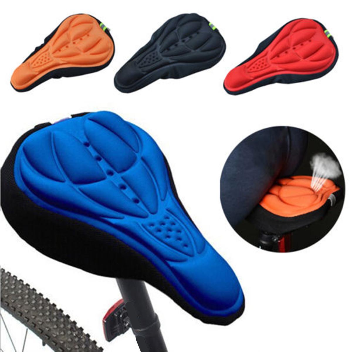Открытый Велоспорт 3D велосипедов силиконовый гель подушки сиденья Saddle Обложка Мягкая Подушка