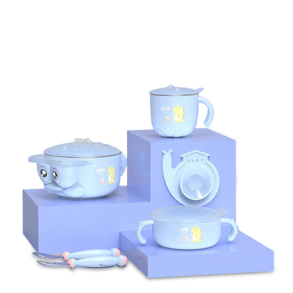 ШТ.#and#nbsp;Детская Изоляция Посуда Набор Детей Чаша Ложка Вилка Салатник Чашка молока от Xiaomi Youpin