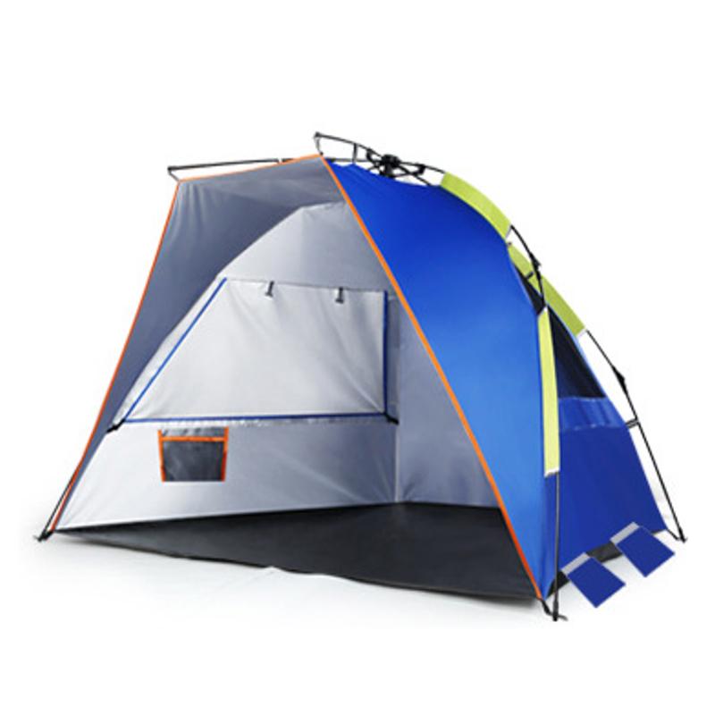 На открытом воздухе 2 чел. Double Кемпинг Палатка Автоматическая Водонепроницаемы Одиночный слой UV Пляжный Навес для теней