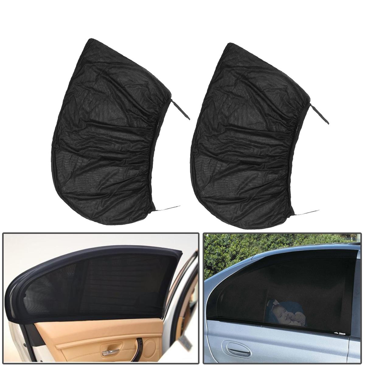 Шт Черный Авто Заднее окно Солнцезащитный чехол Крышка для занавеса UV Защитный щит Зонт нетто 115X50см