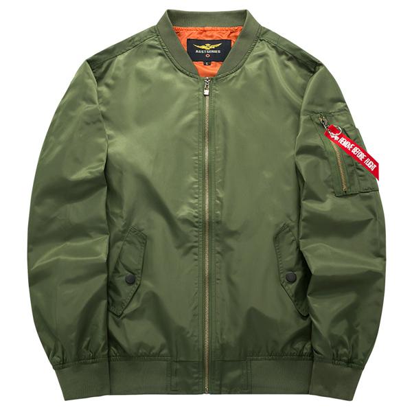Мужская весенняя осенняя летняя куртка Чистая цветная бомбардировочная куртка