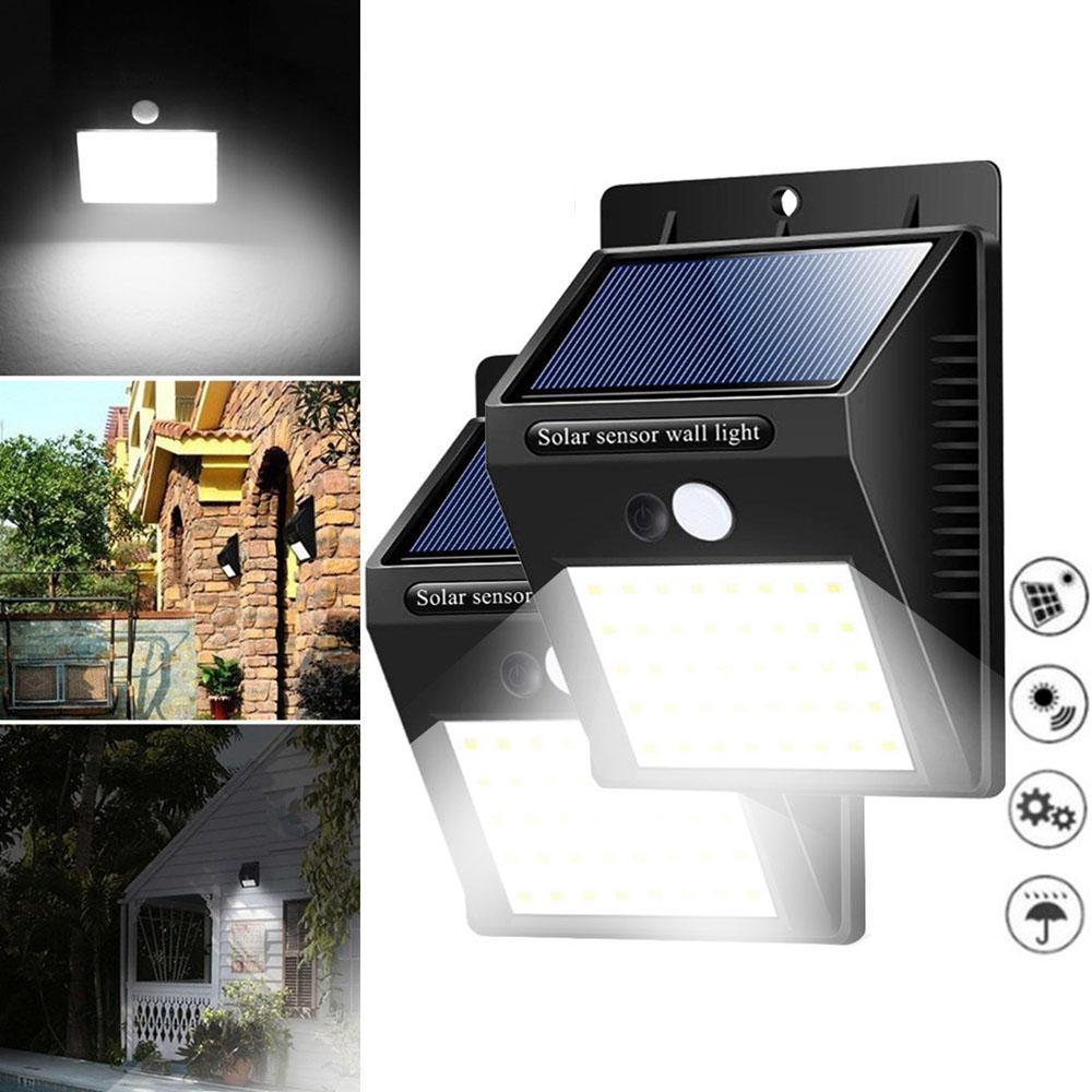 Солнечная Power Light PIR Motion Датчик Безопасность На открытом воздухе Сад Водонепроницаемы Стена Лампа