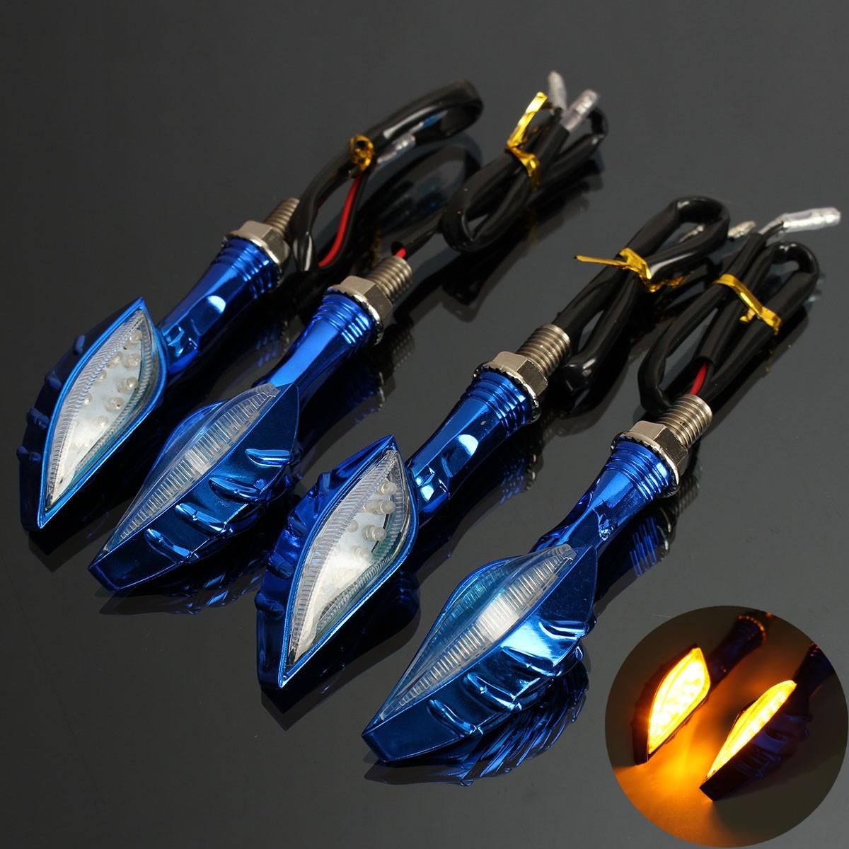 Шт черепа индикатор янтарного универсальный мотоцикл LED сигнал поворота свет