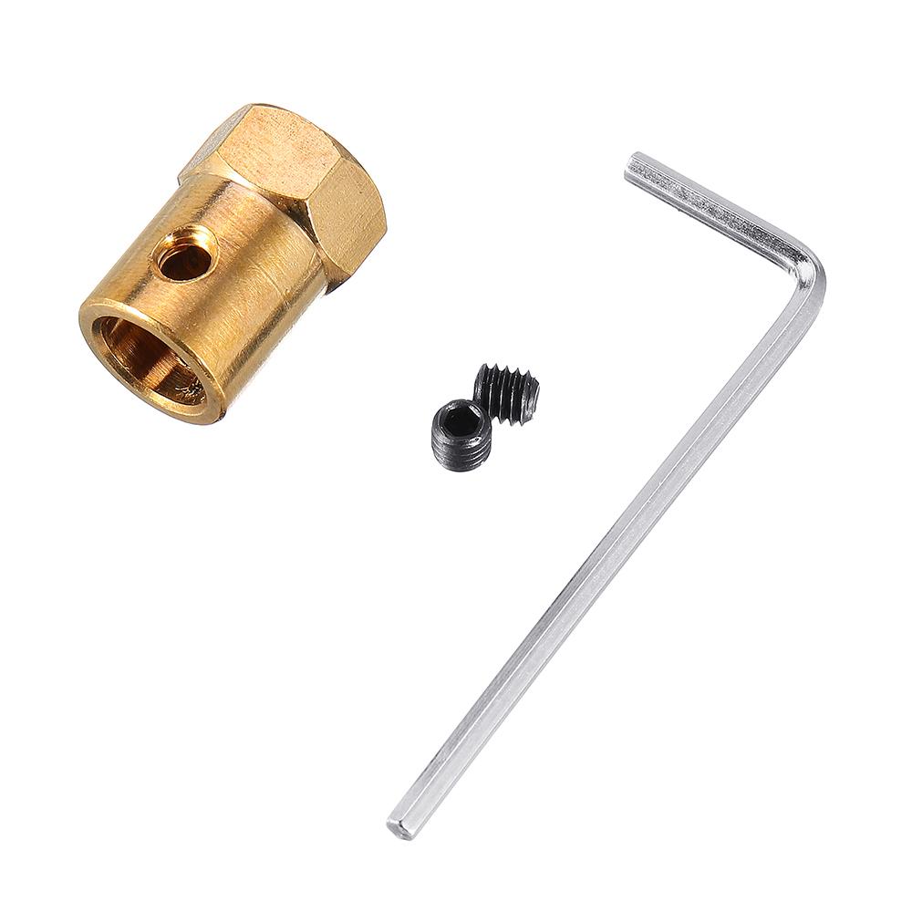 Сцепление с шестигранным шестигранным ключом с шестигранным шестигранным ключом + винты Мотор Coupler Коннектор RC Лодка Запчасти