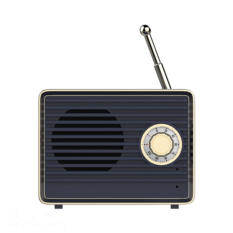 Ретро Сабвуфер Bluetooth Аудио Динамик Памяти Мини Беспроводной Портативный HIFI Шумоподавлением С Микрофоном