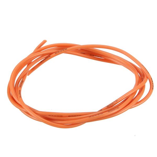 Гибкий силиконовый кабель провод мягкой высокой температуры из луженой меди оранжевый 1/3/5 / 10m