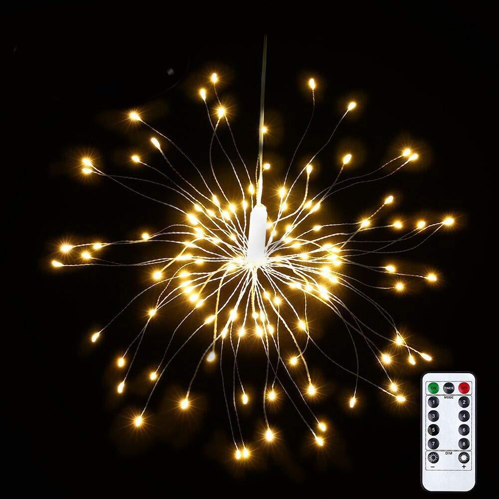 Режим 150 LED DIY Фейерверк Starburst Fairy String Light Дистанционное Управление Рождественский декор