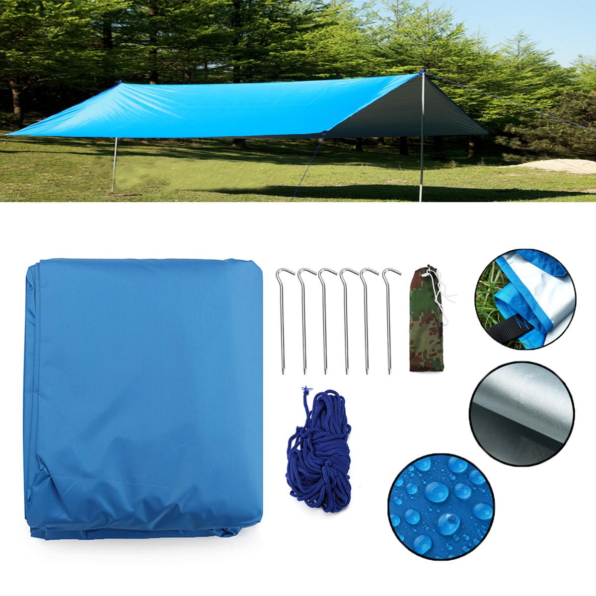 НаоткрытомвоздухеКемпингВодонепроницаемыНавес навеса брезента Пляжный Крышка для палатки Укрытие от солнца