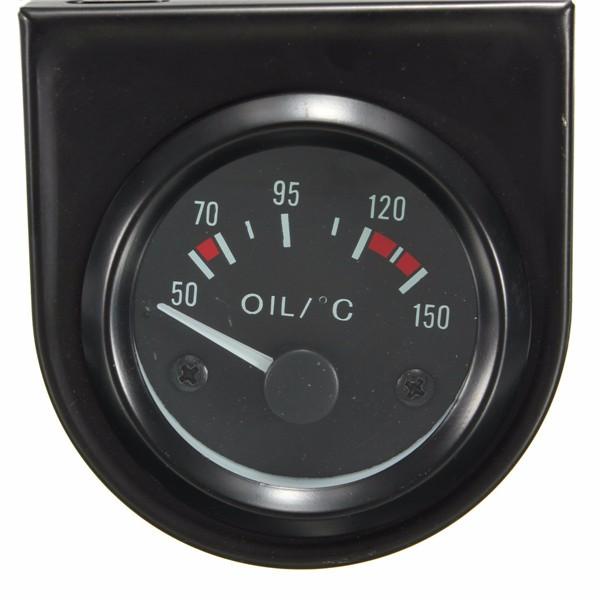 Универсальный автомобиль черный указатель температуры датчик температуры масла 50-150 ℃ LED свет 2 \