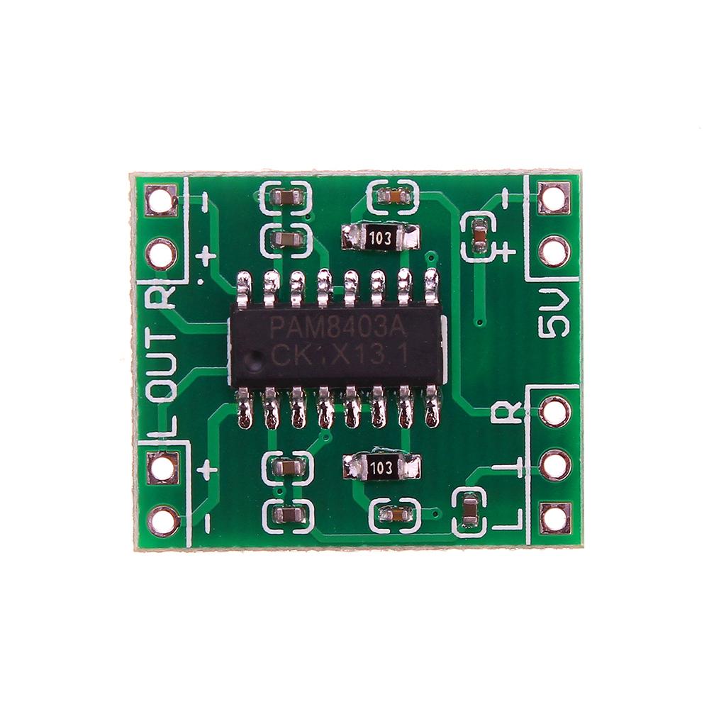 Мини Цифровая Мощность Усилитель Плата 2x3 Вт Класса D Аудио Модуль USB DC 5V PAM8403